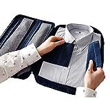 EQLEF® Camicia a prova di rughe e legami di immagazzinaggio dell'organizzatore del sacchetto shirt portatile con la maniglia per la corsa Imballaggio