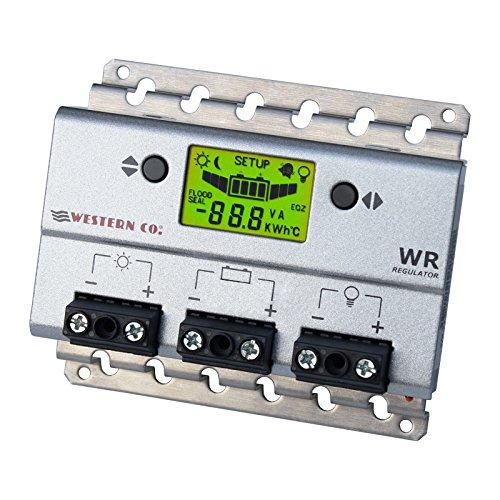 30a 12V/24V Solar Charge controller/regolatore con display LCD e regolabile batteria e parametri di carico (progettato e realizzato in Italia)