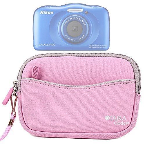 DURAGADGET Housse étui Rose néoprène pour Nikon Coolpix S7000, AW130 & S33 et Canon EOS M3 appareils Photo numériques, Pochette et poignée Amovible