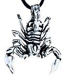 großer Skorpion Anhänger aus 925 Sterling Silber mit Kette_65 cm