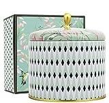 romantische Weihrauch Duftkerze Groß 400g 100% Sojawachs Kerze Weißer Tee Kerze in Dose 2 Dochte 80Std Süßorange Rituals geschenkset