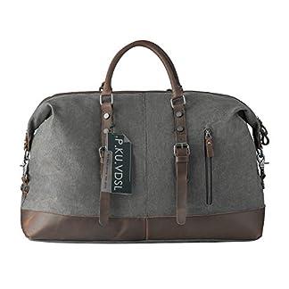 Bolsas de viaje, P.KU.VDSL Bolsa de mano, Bolsa de lona por fin de semana, bolso del cuero para Hombre, Bolsa de tela de cuero,bolsas de deporte, bolsa para viajes cortos