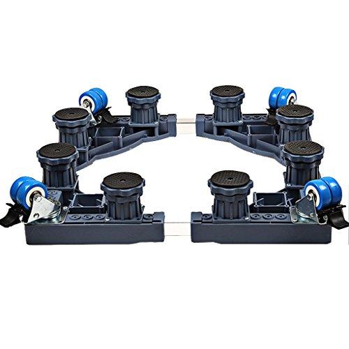 ZXLDP Machine à laver Chariot ajustable Avec 4 Roues Universelles Appareils Électroménagers Réglables Base Pour Votre Machine À Laver Réfrigérateur ( Style Facultatif) Machine à laver Plateaux de plancher ( Couleur : D )