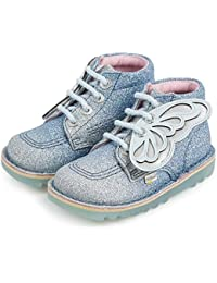 Kickers Kick Glow Faeries I Blue/Silver Gradient Textile Infant Boots