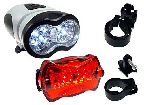 PoloMar LED Fahrradbeleuchtung Set Fahrradlampen Fahrradlicht Fahrradlampenset inkl. Front- und Rücklicht LED