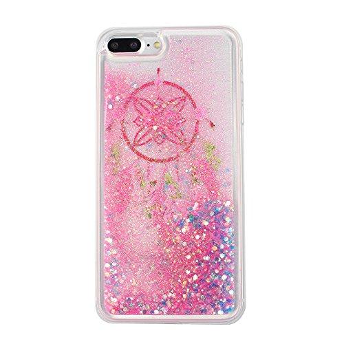 Case iPhone 7 Plus Treibsand Schale 5.5 Zoll, iPhone 7 Plus Flüssig Hülle, Moon mood® iPhone 7 Plus Durchsichtige Handyhülle 3D Creative Case Mode Bunten Transparente Kristallklaren Sparkly Silikon TP Stil 17