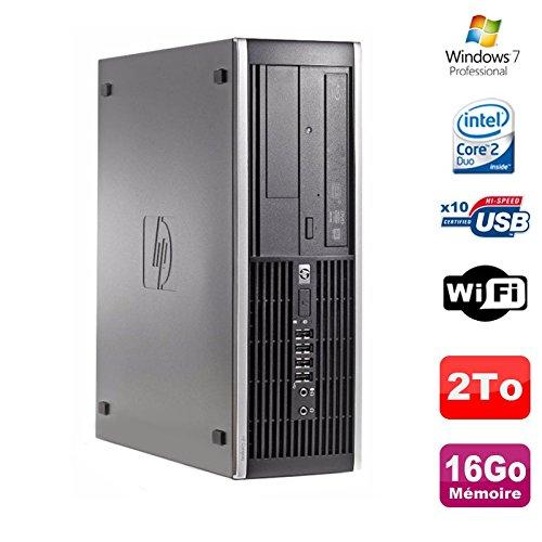 PC HP Compaq 8000 Elite SFF Core 2 Duo E8400 3Ghz 16 GB DDR3 2To Win 7 Pro