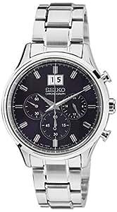 Seiko Herren-Armbanduhr XL Chronograph Quarz Edelstahl SPC081P1