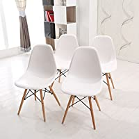 GIZZA Retro DSW Dining Table Side Chairs Wood Outdoor ABS Plastic Designer Eiffel Chair Home Office