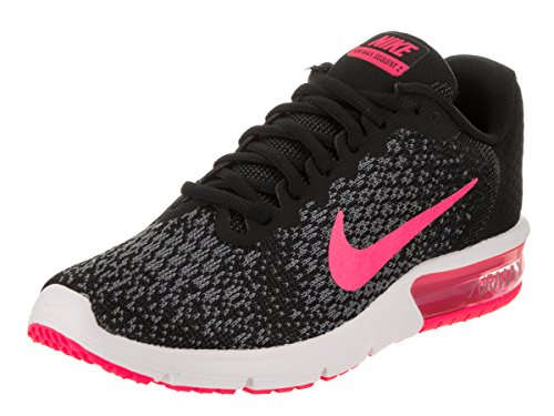 Nike Womens Air Max Sequent 2 Mesh Trainers Nero/Rosa