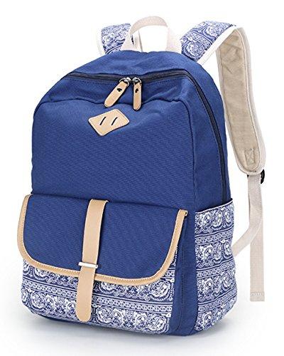 Keshi Leinwand Cool Schulrucksäcke/Rucksack Damen/Mädchen Vintage Schule Rucksäcke mit Moderner Streifen für Teens Jungen Studenten Khaki