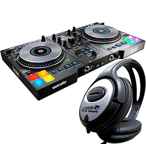 Hercules DJControl Jogvision USB DJ Controller mit Air Control + KEEPDRUM Kopfhörer