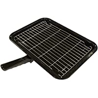 Durable Universal Oven Cooker Grill Pan Rack & Detachable Handle 380 x 280mm