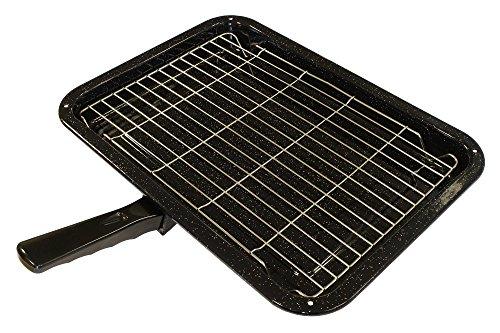Bandeja y rejilla universal duraderas para horno y estufa con mango desmontable 380 x 280mm