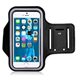 Best Running Armband For Samsung Galaxy S6 - Flyngo Water Resistant Cell Phone Armband Case iPhone Review