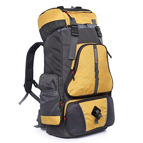 augustsport großes Fassungsvermögen Bergsteigen backpack-60l, Unisex, gelb