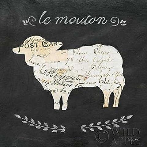 Courtney Prahl – Le Mouton Cameo Sq Artistica di Stampa (60,96 x 60,96 cm)