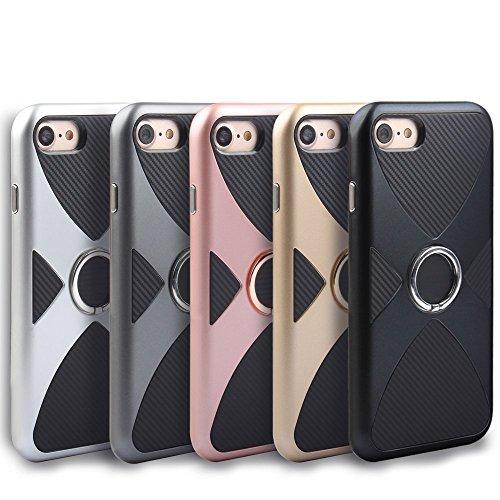 iPhone 7 Coque, Voguecase 2 in 1 TPU + PC [Anneau Series] avec Absorption de Choc, Etui Silicone Souple, Légère / Ajustement Parfait Coque Shell Housse Cover pour Apple iPhone 7 4.7 (Or)+ Gratuit styl Or