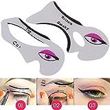 Allright eyeliner stencil template ombretto occhio di gatto Quick guide Smokey makeup Tool set 2pz immagine