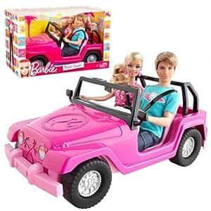 Barbie- Car Beach Cruiser & Dolls Ken and Barbie