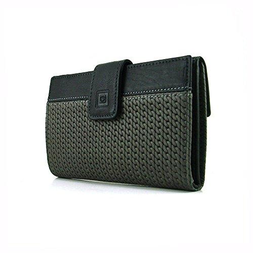 Cartera para mujer, perfecto para regalo, hecho en España, marca casanova, hecha en piel de vacuno, Ref. 47116 Negro