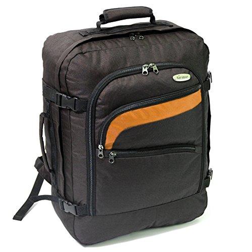 karabar-easyjet-cabin-approved-backpack-50-x-40-x-20-cm-40-litre-800-grams-3-years-warranty-blackora