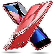 ESR Funda iPhone 8/iPhone 7 Carcasa Suave TPU Gel [Ultra Fina] [Protección a Bordes y Cámara] [Compatible con Carga Inalámbrica] –Transparente