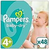 Pampers Baby-Dry Gr. 4+, 9-18 kg, 48 Windeln, 2er Pack (2 x 48 Stück)