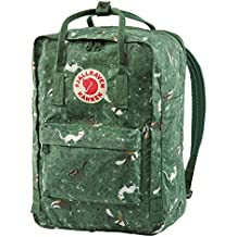FJALLRAVEN Kånken Art Laptop 15 Mochila, Unisex Adulto, Verde (Green Fable),