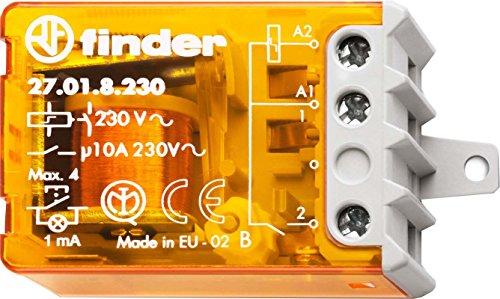 Finder Serie 27 - Relais per interruttore unipolare 1 NA 230 VAC