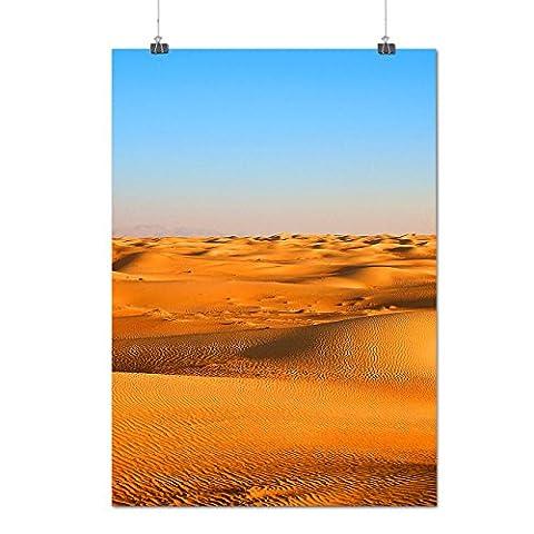 désert Le sable Photo La nature La nature Beauté Matte/Glacé Affiche A3 (42cm x 30cm)   Wellcoda