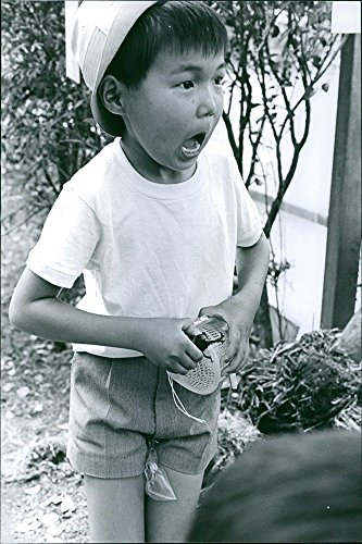 vintage-photo-of-japanese-boy-shouting-and-he-captured-a-beetle-and-place-it-in-a-cage-1968