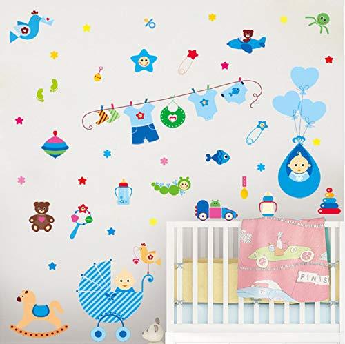 DAIHNZWC Warme Baby Zimmer Wandaufkleber Für Kinderzimmer Kinder Schlafzimmer Wohnkultur Kunst Aufkleber Poster Wandbilder Selbstklebende Folie