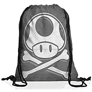 A.N.T. Toad Skull Drawstring bag gymsac backpack mario skull video game console super world