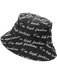 AJOG Unisex Cubo Sun Hat Spring Summer Visor Protección Sombreros Cartas  Impresión Harajuku Fisherman Cap Para Hombres Mujeres… 380213325bd