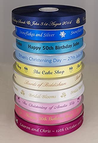 Personalised Ribbon 25mm x 5 metres by The Radiant Ribbon Co