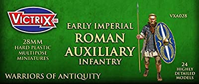 Victrix VXA028 - Early Imperial Roman Auxiliaries - 24 Figure Set - 28mm Plastic Miniatures - Warrior of Antiquity