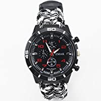 XUE Outdoor Life Watch Multifunktions-Armbanduhr Compass Flint Start Watch (Stil : EIN)