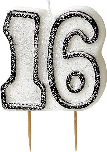bling-party-decorations-and-tableware-for-16th-birthday-in-black-silver-glitz-16-candle