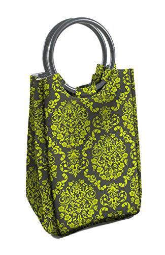 fit-fresh-ladies-retro-insulated-lunch-bag-with-reusable-ice-pack-magnetic-snap-green-grey-damask