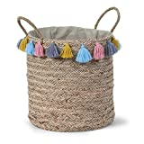 Child Home Braided Round Storage Box with Fringes - Best Reviews Guide