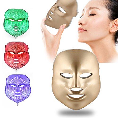 Weijin 3 Couleur LED Masque d'or LED Traitement de la lumière Soin du Visage beauté de la Peau Soins Photo Masque de Traitement pour l'acné blanchiment Rides