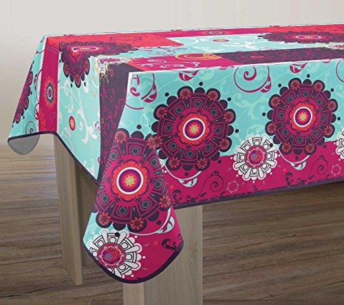 Nappe anti-taches Flamenco fuchsia - taille : Rectangle 150x350 cm