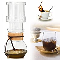 Tradico® 400ml Elegant Dutch Cold Brew Water Ice Drip Coffee Maker Glass Pot For 2 Cups For 2 Persons
