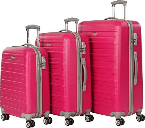 d&n Scion Travel Line 9400 Valise 4 roulettes (lot de 3) pink