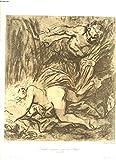 LES MAITRES DU DESSIN. PUBLICATION MENSUELLE N° 21, 15 JANVIER 1901. BIDA, LE MUR DE SALOMON, DESSIN/ FRANCOIS BONVIN, INTERIEUR DE CABARET, DESSIN/ H. DAUMIER, APRES L'AUDIENCE, AQUARELLE/ INGRES, PORTRAIT DE M. LEBLANC, DESSIN A LA MINE DE PLOMB / ...