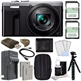 Panasonic Lumix DMC-ZS60 Digital Camera (Silver) + 32GB + 16GB + Rechargable Li-Ion Battery + Small Carrying Case + Charger + HDMI Cable + Card Reader + Small Tripod Bundle