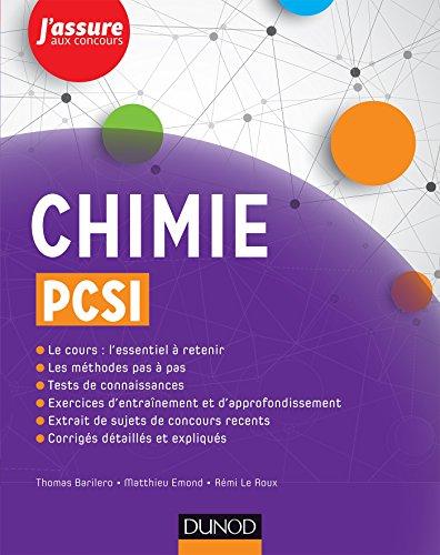 Chimie PCSI (J'assure aux concours)