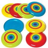 Baker Ross- Discos voladores con Arcoíris (Pack de 8) para Bolsas de cotillón Infantiles