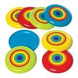 Baker Ross Discos voladores con Arcoíris - Perfectos para Bolsas Sorpresa o Piñatas de Fiestas Infantiles (Pack de 8)